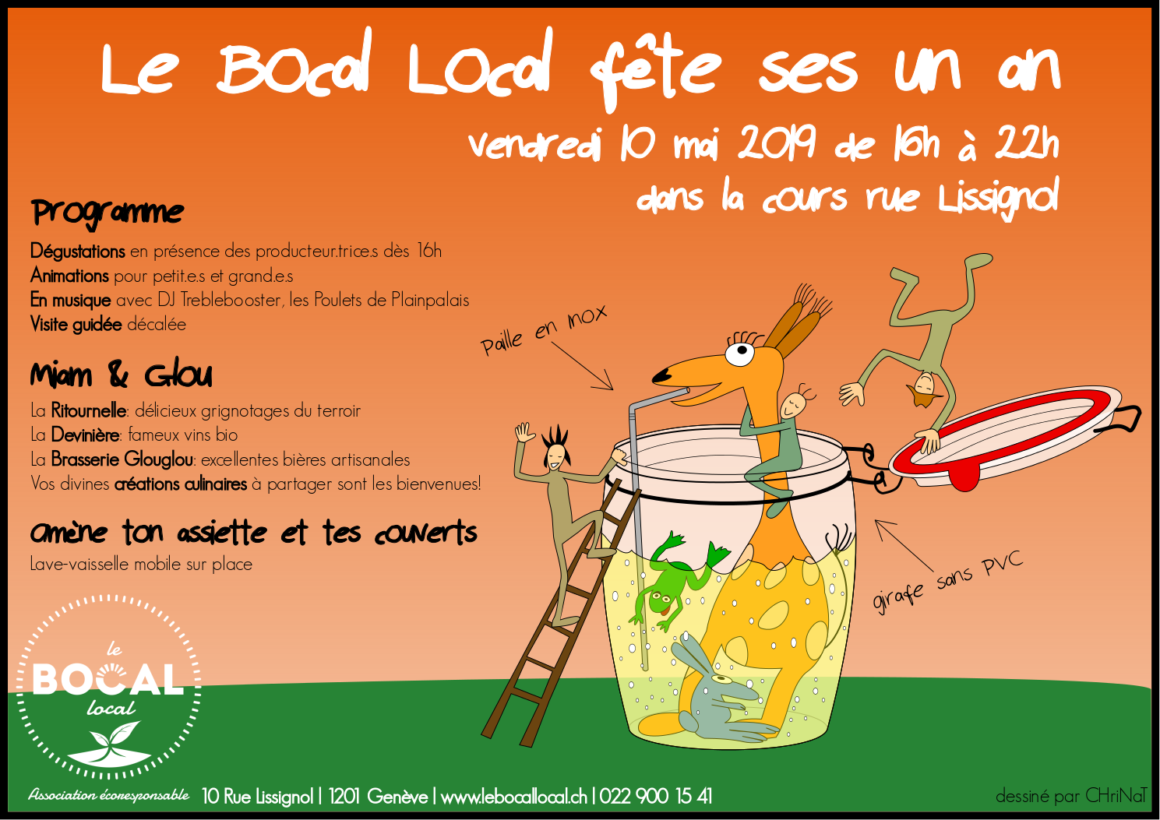 10 Mai – Le Bocal Local fêtera ses 1 an !